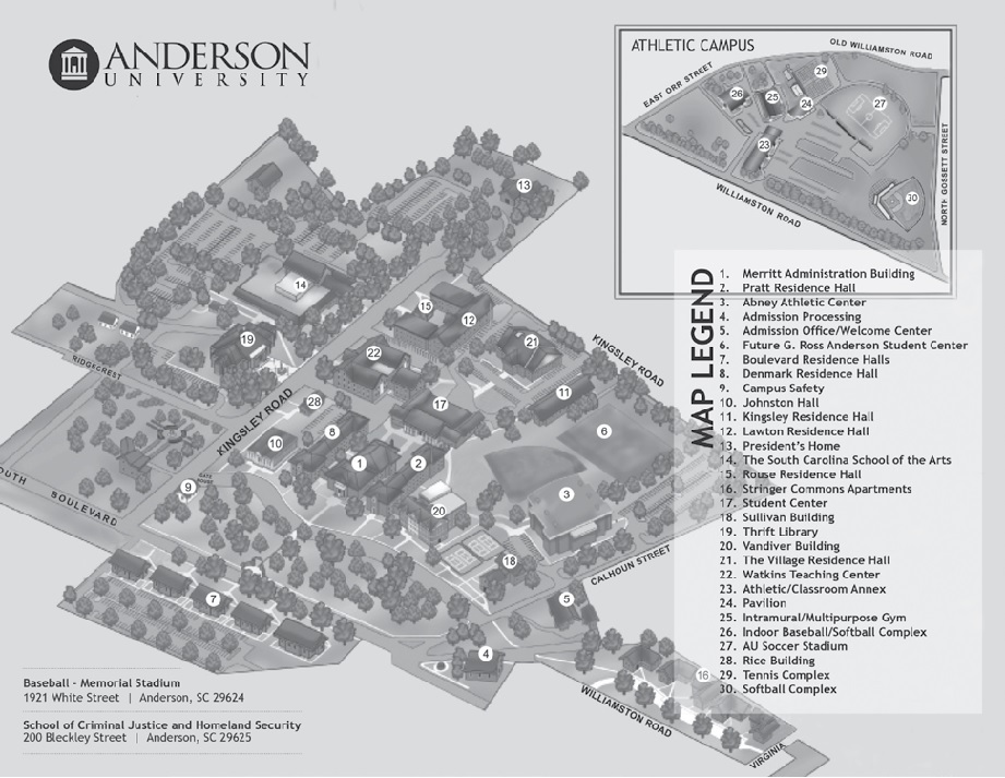 Langston University Campus Map.Financial Aid Anderson University Acalog Acms